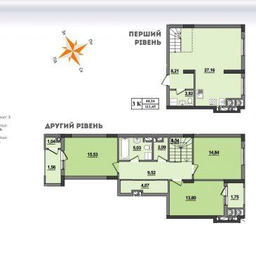 Продам 3 кімнатну квартиру, вул. Манастирського